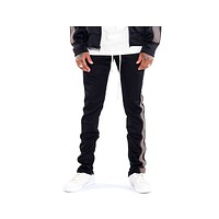 EPTM Men's Track Pants Black Navy Brown Stripes