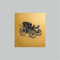 Old Car Vintage PU Leather Print Jewelry Supplies, Illustration Jewelry Supply, Jewellery Supplies Print. Jewelry Findings, Vegan Leather