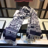 Dior Women Wool Scarf Shawl Scarf