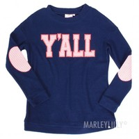Y'all Pullover in Navy | Marleylilly