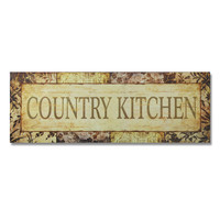 "Furnistar Decorative Wood Wall Hanging Sign Plaque ""Country Kitchen"""