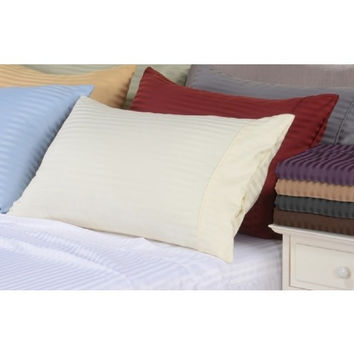 5 Sizes-600 Thread Count Striped Egyptian Cotton Bed Sheet Sets in Queen Size
