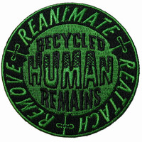 Creepy Zombie Dead Horror Gothic Iron on Patch - Recycled Human Remains KV85
