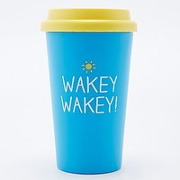 Wakey Wakey Travel Cup in Blue - Urban Outfitters
