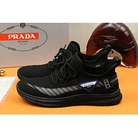 prada men fashion boots fashionable casual leather breathable sneakers running shoes 24