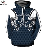 Dallas Cowboy 3D Hoodies Sweatshirts Men Women Autumn Winter Sportswear Tracksuit 2018 Long Sleeve Hoodie Hooded Pullover Tops