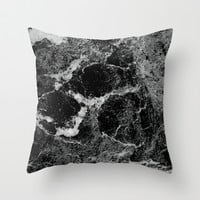 Marble Throw Pillow by Three of the Possessed