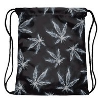 Smoke Weed Drawstring Bag