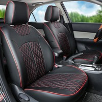 custom car seat protector for Nissan patrol seat covers black car seat cushions PU leather car seat cover interior accessories