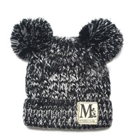 New Coming Baby Boy Girl Knitted Beanie Cap Crochet Winter Warm Hat Handmade Infant Toddler Fashion Outdoor Cap Headwear SW098