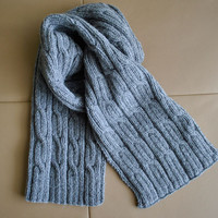 """PATTERN Men's Scarf """"Cables"""""""