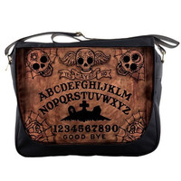 Ouija Board Day of the Dead Messenger bag