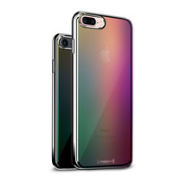 LUXENDARY TRANSLUCENT BLURRY GRADIENT COLORS TEXTURE PRINTED COOL DESIGN STYLISH CHROME SERIES CASE FOR IPHONE 7