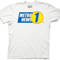 How I Met Your Mother Metro News 1 Logo Adult White T-Shirt