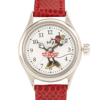 Disney Leather Strap Watch - Red