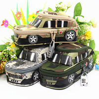 Pencil Case for boys Camouflage SUV Cross-country Car Jeep Off-Roader Tank new Pen pouch Bag Box with Coded Combination Lock