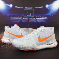 Nike Men White Orange Hook Built-in air cushion basketball shoes G-CSXY