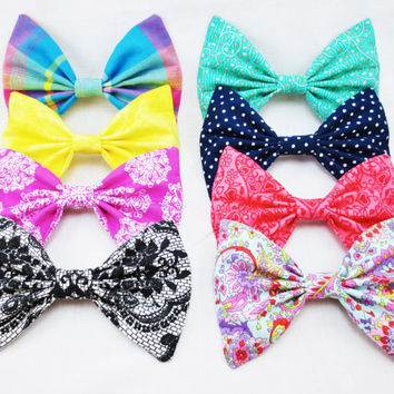 Choose One Bow from the Summer Brights Bow Collection- One Large Hair Bow