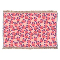 Hibiscus - Pink Floral Throw Blanket