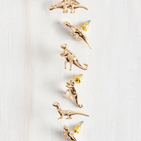 Quirky Dino Doubt About It Earring Set by ModCloth