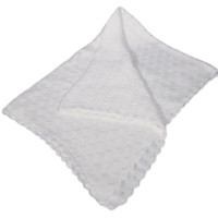 Tulip Pattern Knit White 100% Cotton Quality Shawl Blanket (Infants)