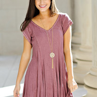 Gretchen A Line Swing Tunic: Wine