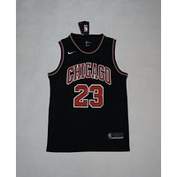 Men's Chicago Bulls #23 Michael Jordan Nike Brand Black Jerseys