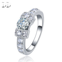 White Gold Plated rings for Women jewelry accessories promise wedding Engagement Trendy cubic zircon diamond fashion bague DD142