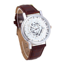 Mens Mountaineering Sports Leather Strap Watch Army Style Watches