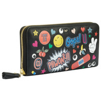 Anya Hindmarch Black Circus With Trim All over Wink Wallet