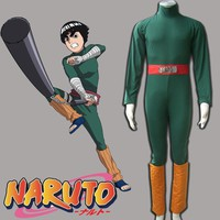 hot anime cosplay costume for men Naruto Rock Lee cosplay costume adult Halloween costume for men