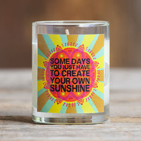 Create Your Own Sunshine Votive Candle