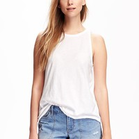 Relaxed High-Neck Tank for Women