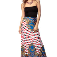 Diamonds and Baroque Fit and Flare Maxi Dress