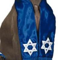 Amazing Limited Edition Large Pup Shalom Pup Mitzvah Tallit and Matching Kippah for Your Special Large Jewish Dog