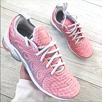 Nike air vapormax plus Fashion casual shoes glitter texture Sneakers Pink