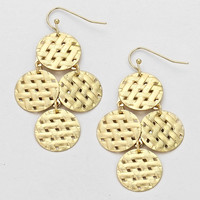 Weave Basket Earrings Gold