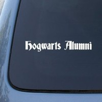 HOGWARTS ALUMNI -Harry Potter Vinyl Car Decal Sticker - White (10.5 inches)