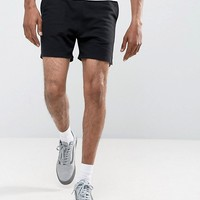 ASOS Jersey Shorts In Black at asos.com