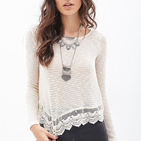 Scalloped Crochet Top