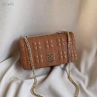 BURBERRY WOMEN'S LEATHER LORA INCLINED CHAIN SHOULDER BAG