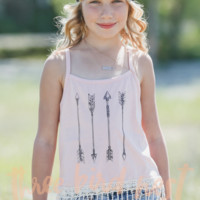 Boho Arrows Fringe Tank