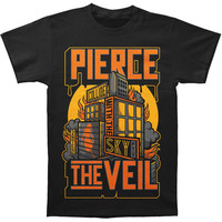 Pierce The Veil Men's  Collide House T-shirt Black Rockabilia