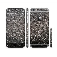 The Black Unfocused Sparkle Sectioned Skin Series for the Apple iPhone 6 Plus