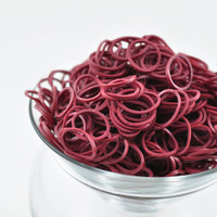 Rainbow Loom Bands - Burgundy - Rubber Band Refills - 600+ Bands & 24 C-Clips - Many Colors Available