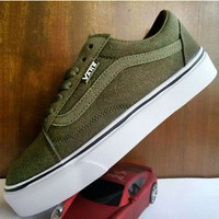 Vans Old School Green Classic Leisure Plate shoes B-A-HYSM