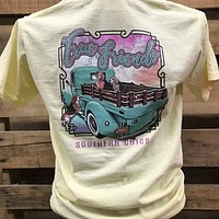 Southern Chics True Friends Country Truck Lab Dogs Comfort Colors Bright T Shirt