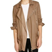 PAM & GELA Long Moto Jacket | Bloomingdales's