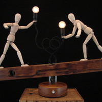 Upcycled Vintage Carpentry Level Lamp