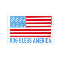 Dog Bless America Sticker